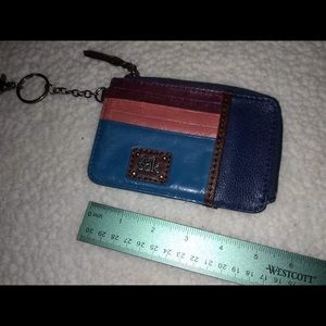 Compact leather wallet from The Sak